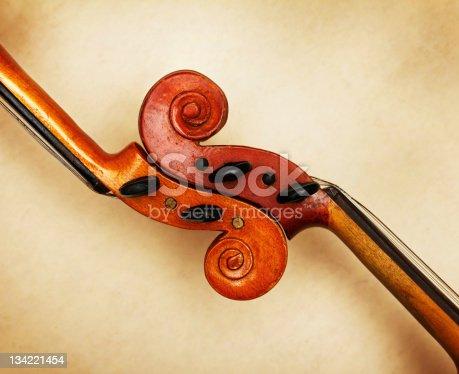 istock two old violin scrolls 134221454
