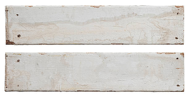 Two old white weathered wood boards. Two old white weathered, mouldy wood boards, isolated on white, clipping path included. driftwood stock pictures, royalty-free photos & images