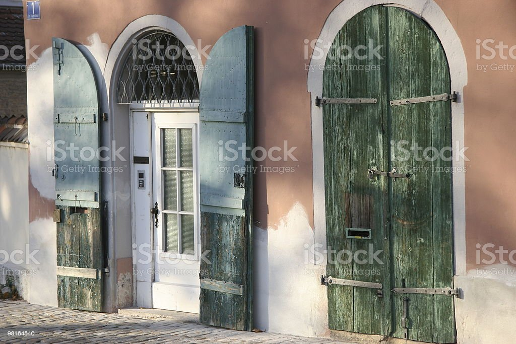 two old wooden doors royalty-free stock photo