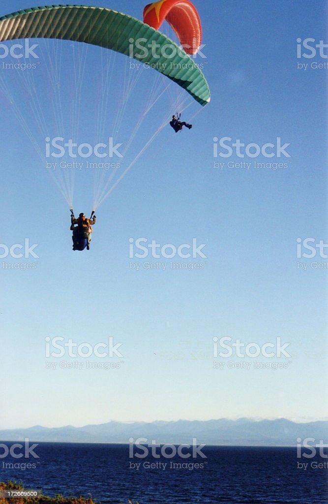 Two open 'chutes royalty-free stock photo