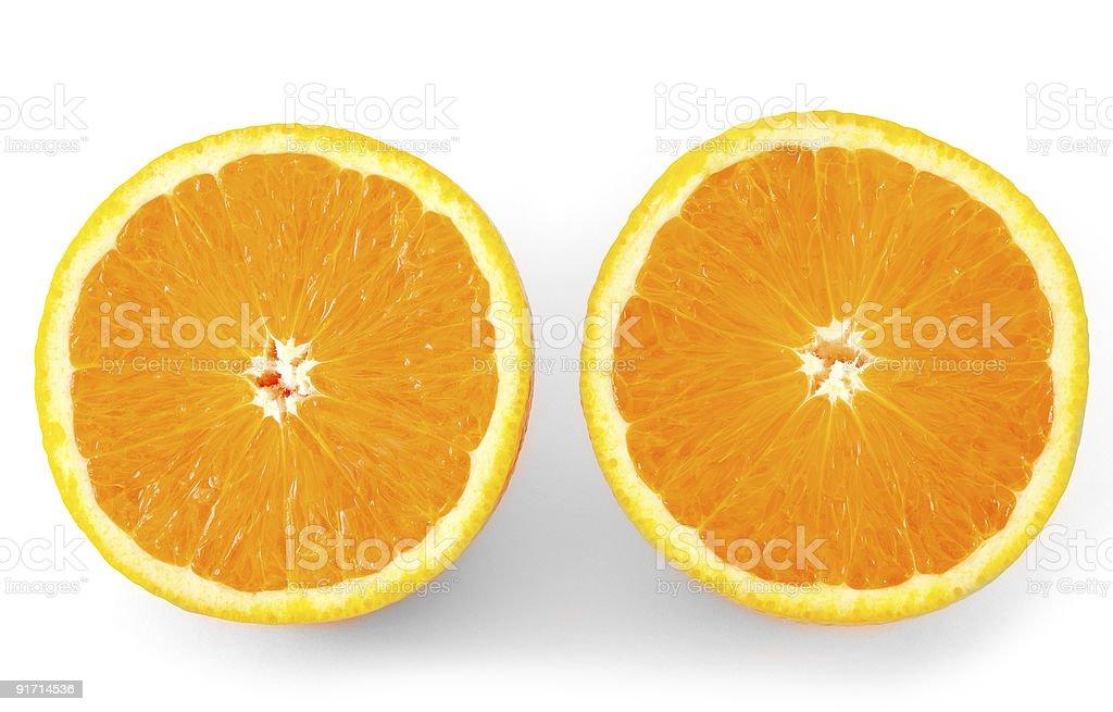 two oranges stock photo