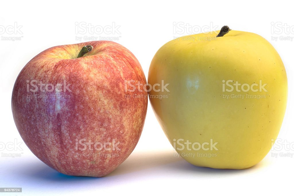 Two Organic Apples royalty-free stock photo