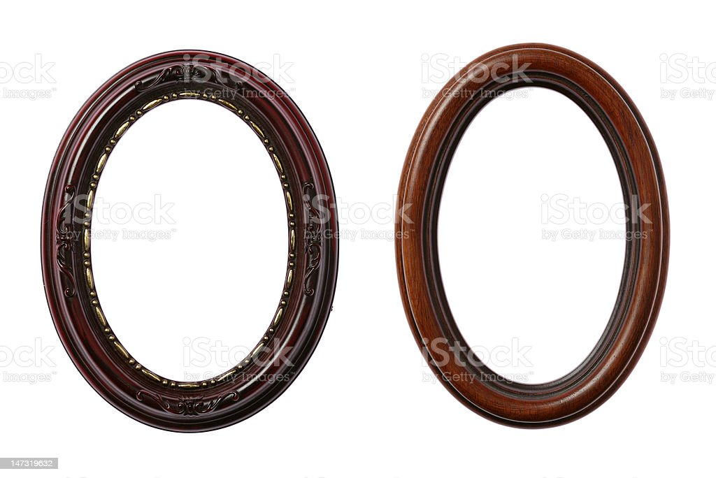 Two Oval Frames royalty-free stock photo