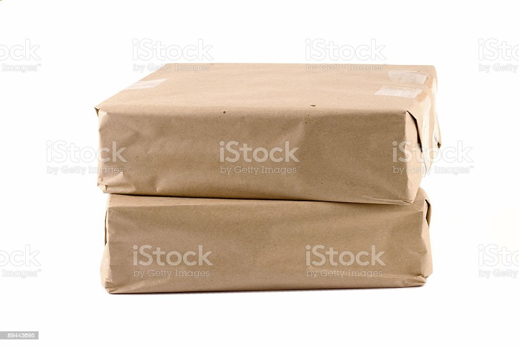 Two packages - 2 royalty-free stock photo