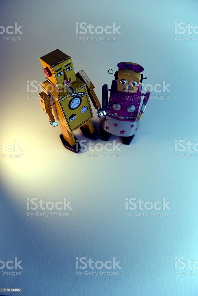 two pair of toy robots royalty-free stock photo