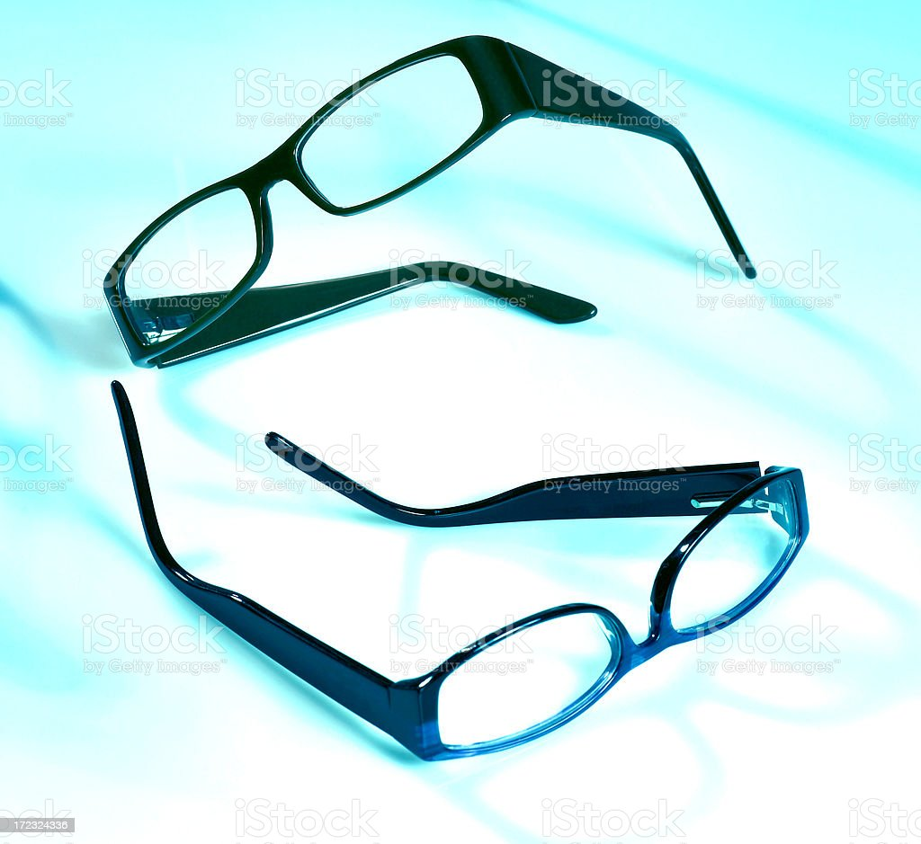 Two pairs of glasses royalty-free stock photo