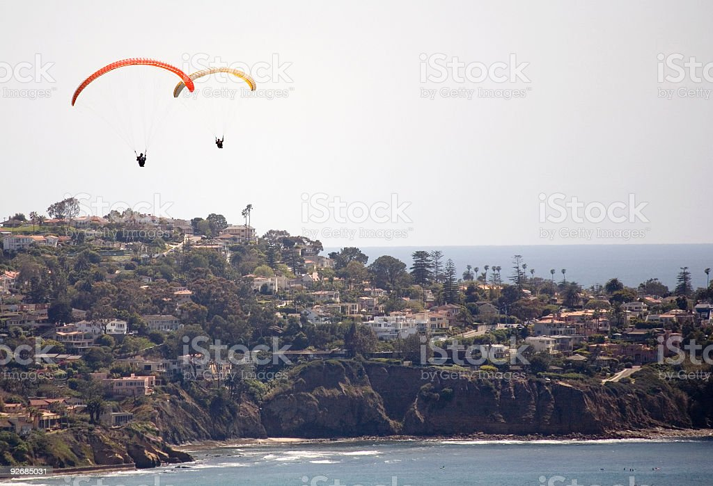 Zwei paragliders La Jolla – Foto