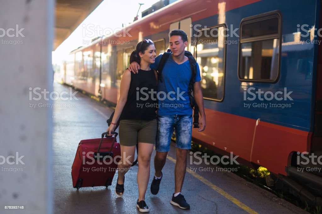 Two passengers stock photo