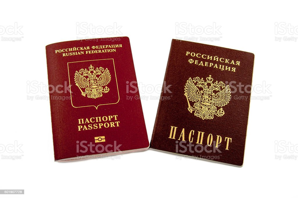 Two passports stock photo