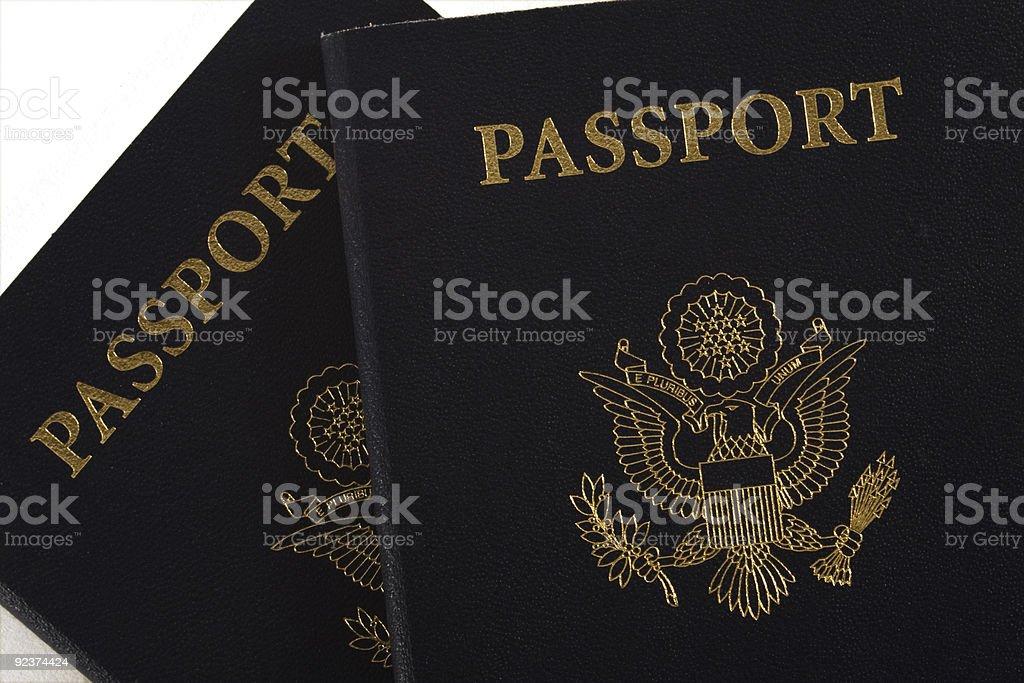 Two Passports royalty-free stock photo