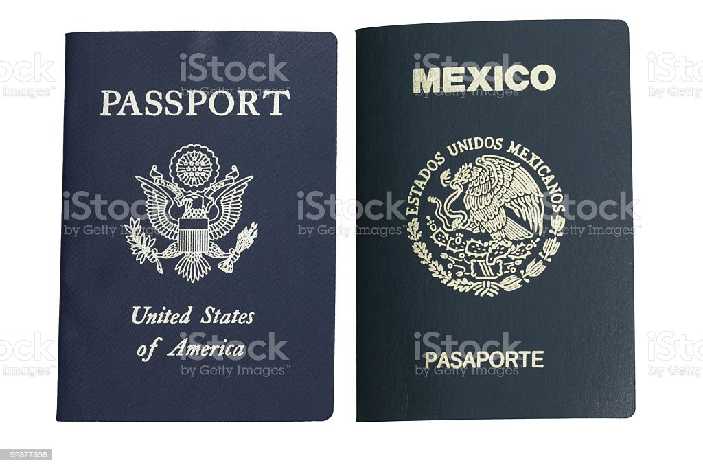 Two Passports stock photo