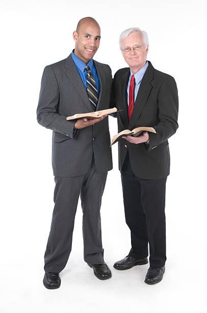 Two Pastors fellowshipping stock photo