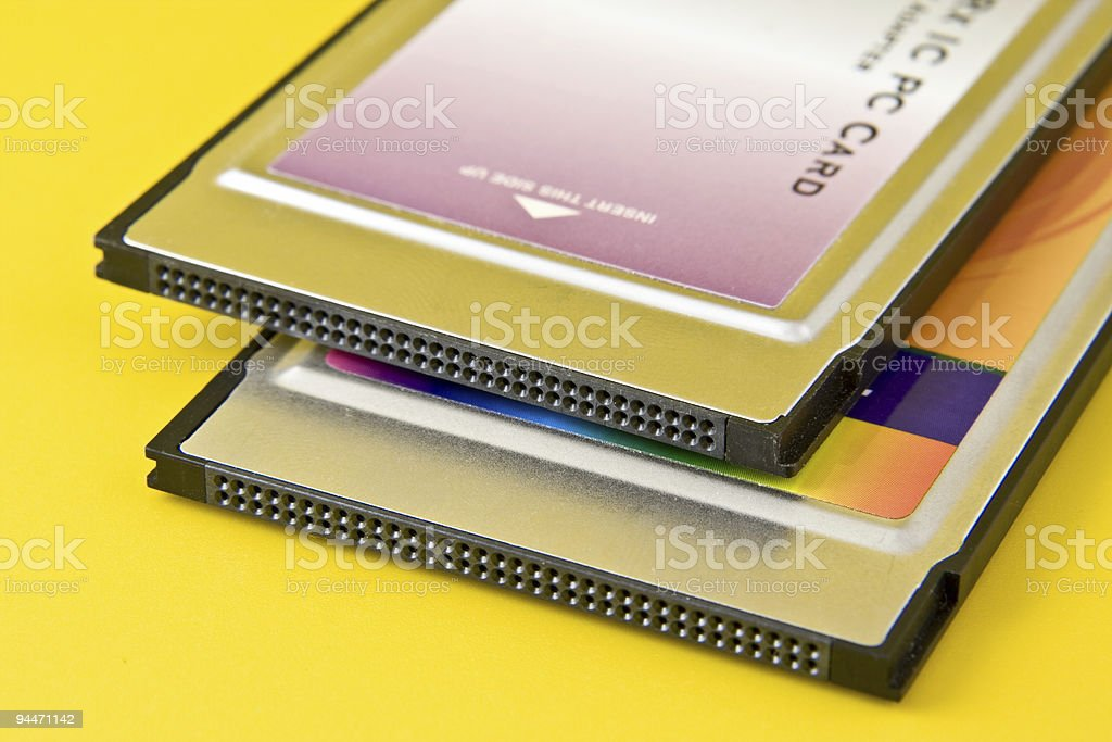 Two PC Cards royalty-free stock photo