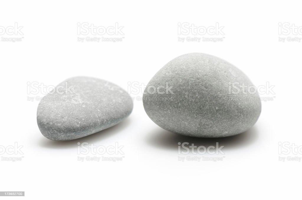 Two pebbles stock photo