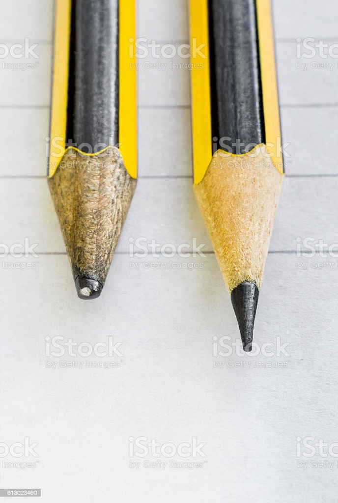 Two pencils, good and bad - Photo