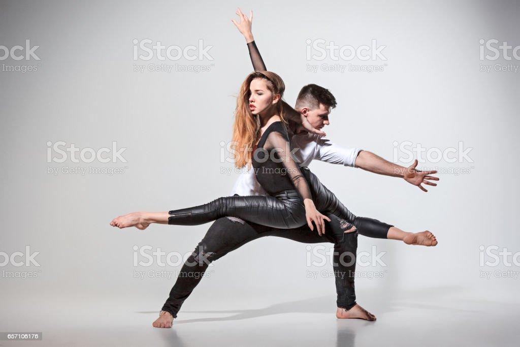 Two people dancing stock photo