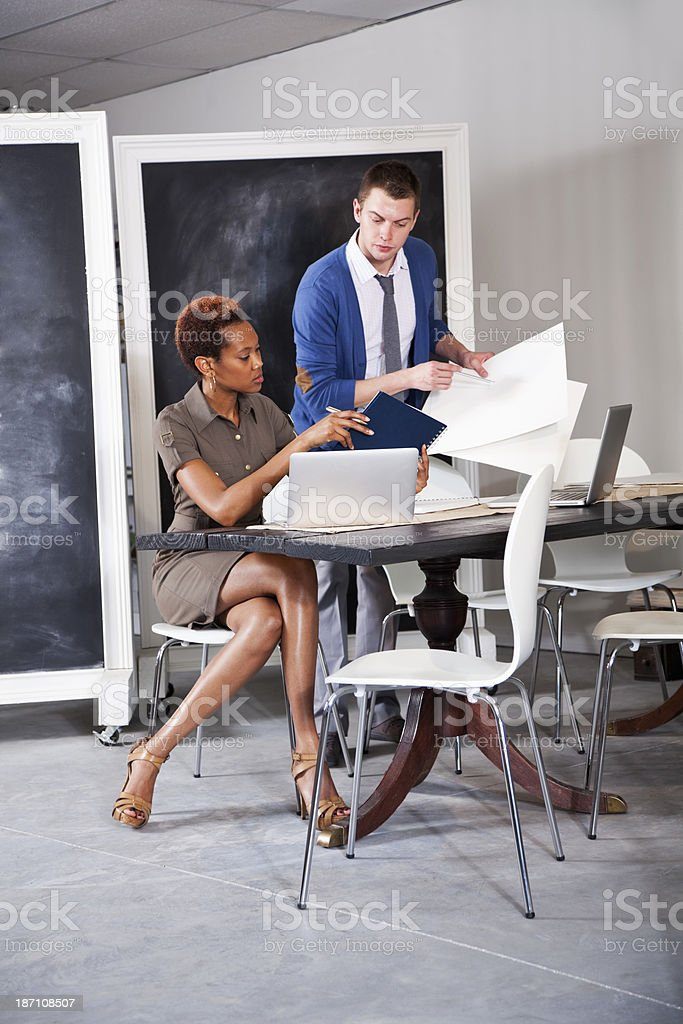Two people in business meeting royalty-free stock photo