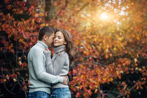 Two People In Love Stock Photo - Download Image Now - iStock