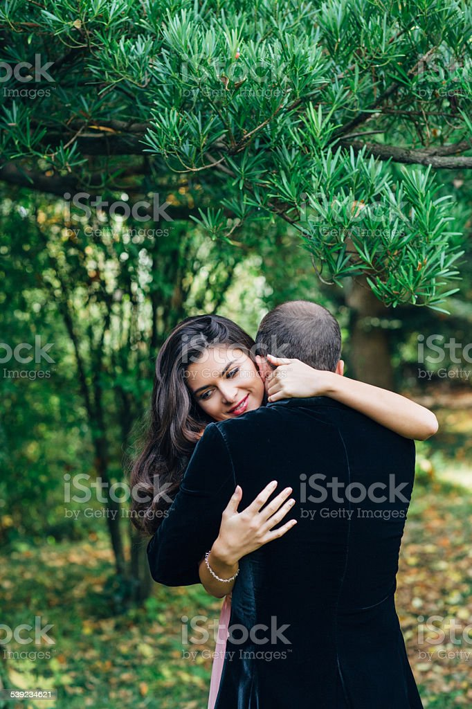 Two people in love royalty-free stock photo