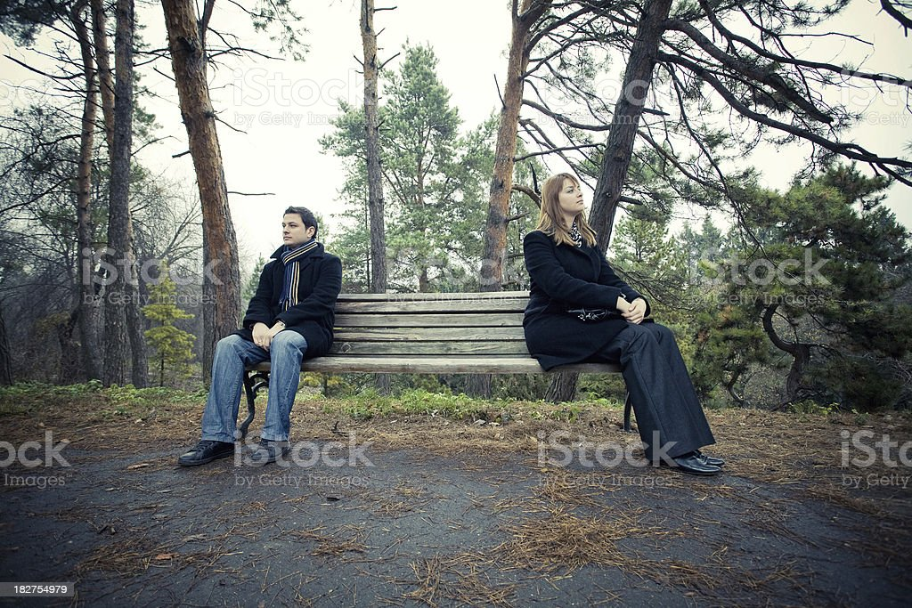 Two people outdoors royalty-free stock photo