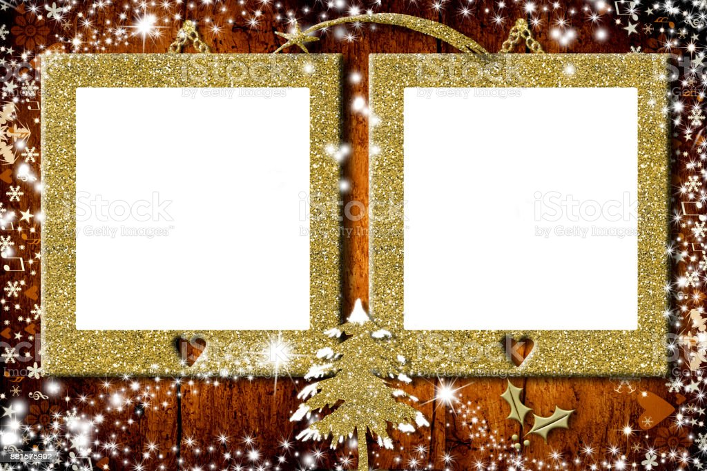 Two Photo Frames Christmas Cards Stock Photo & More Pictures of ...