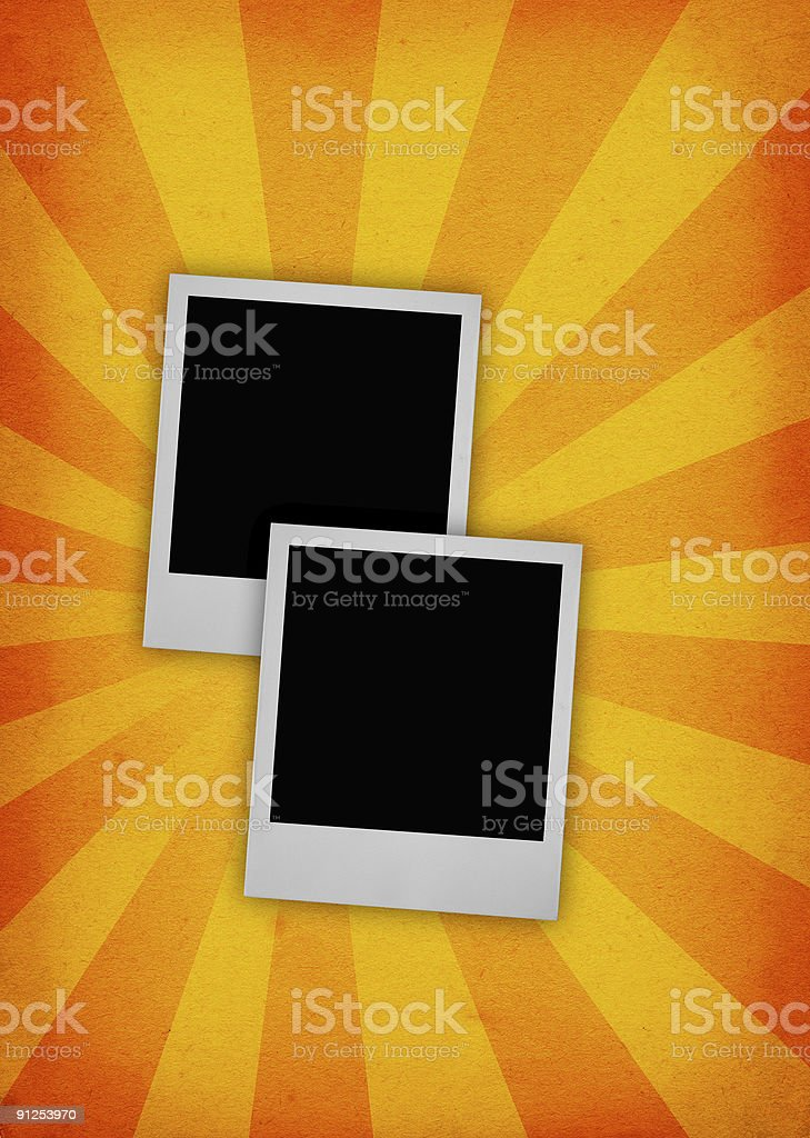 two photo frames royalty-free stock photo
