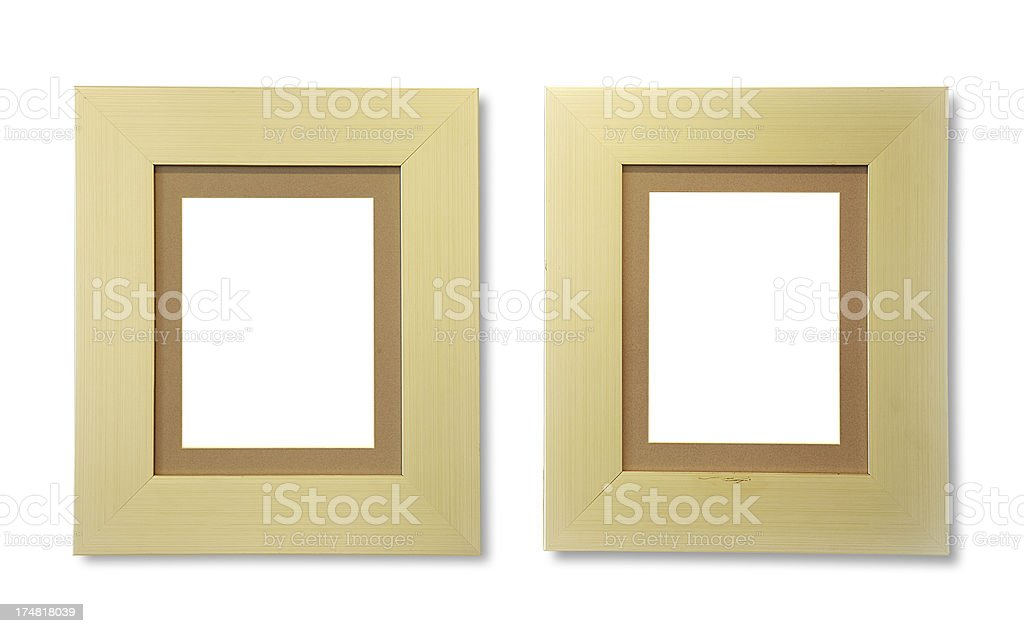 Two Picture Frame (Clipping Path) royalty-free stock photo