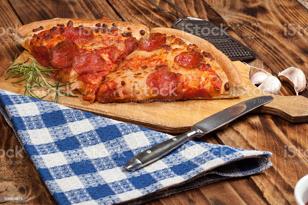 Two pieces of pizza. royalty-free stock photo