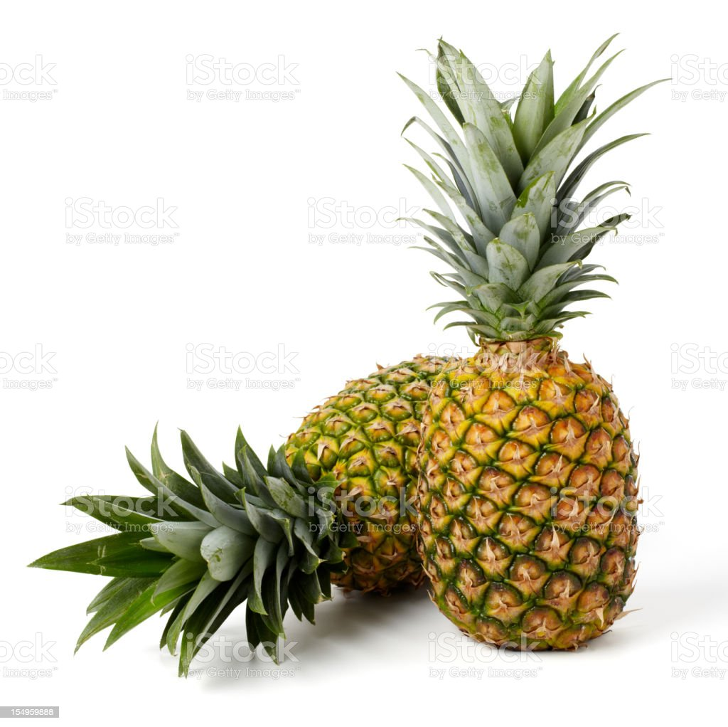Two Pineapples royalty-free stock photo