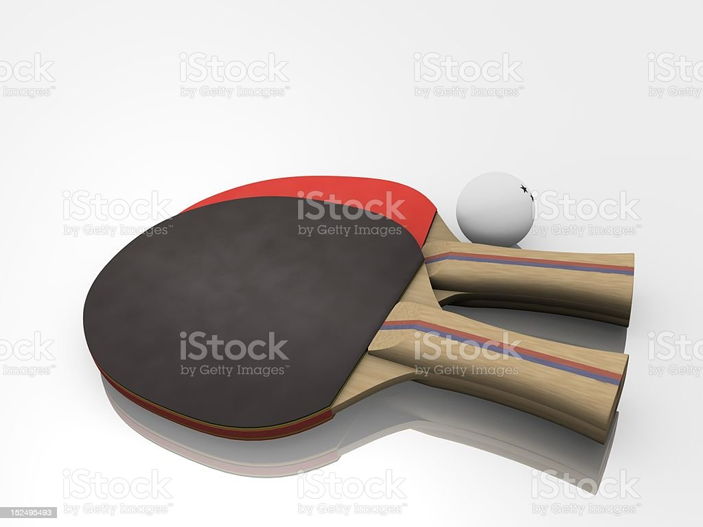 Two Ping-pong Paddles with Ball stock photo