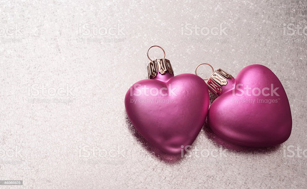 Two pink hearts royalty-free stock photo