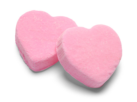 Two Pink Valentines Candy Hearts