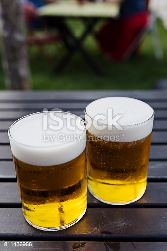 183064447 istock photo Two pints of cold beer 811436966