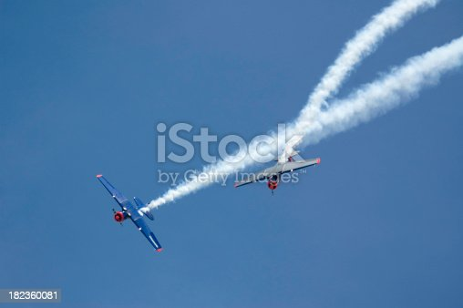Two Planes at Airshow with smoke trail