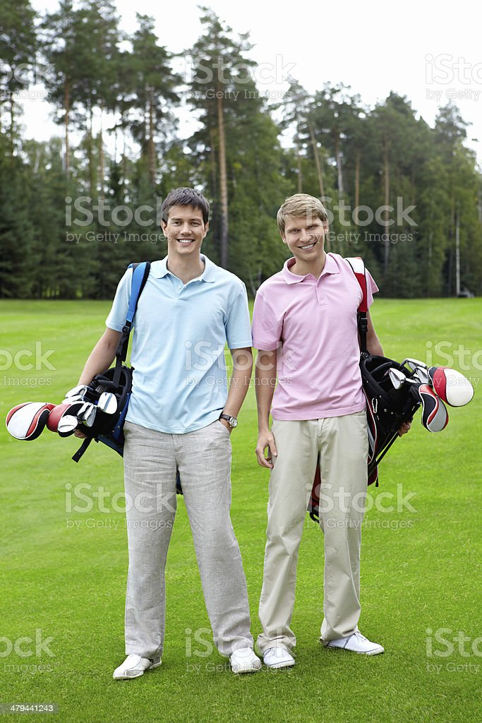 Two players stock photo