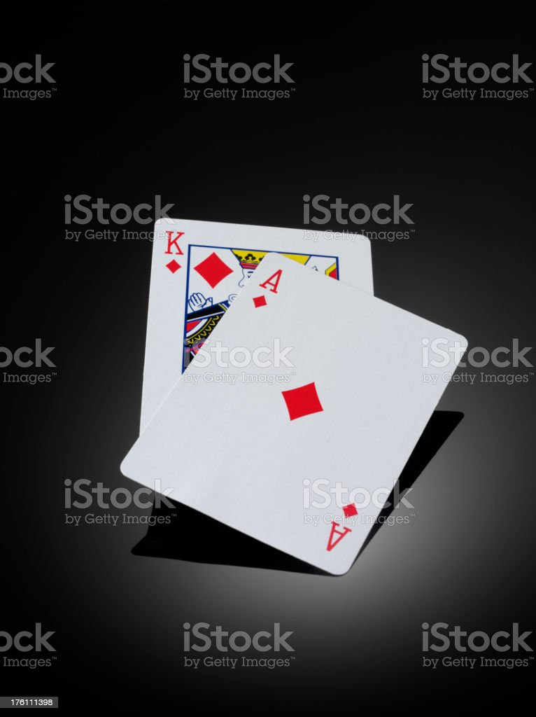 Two Playing Cards royalty-free stock photo