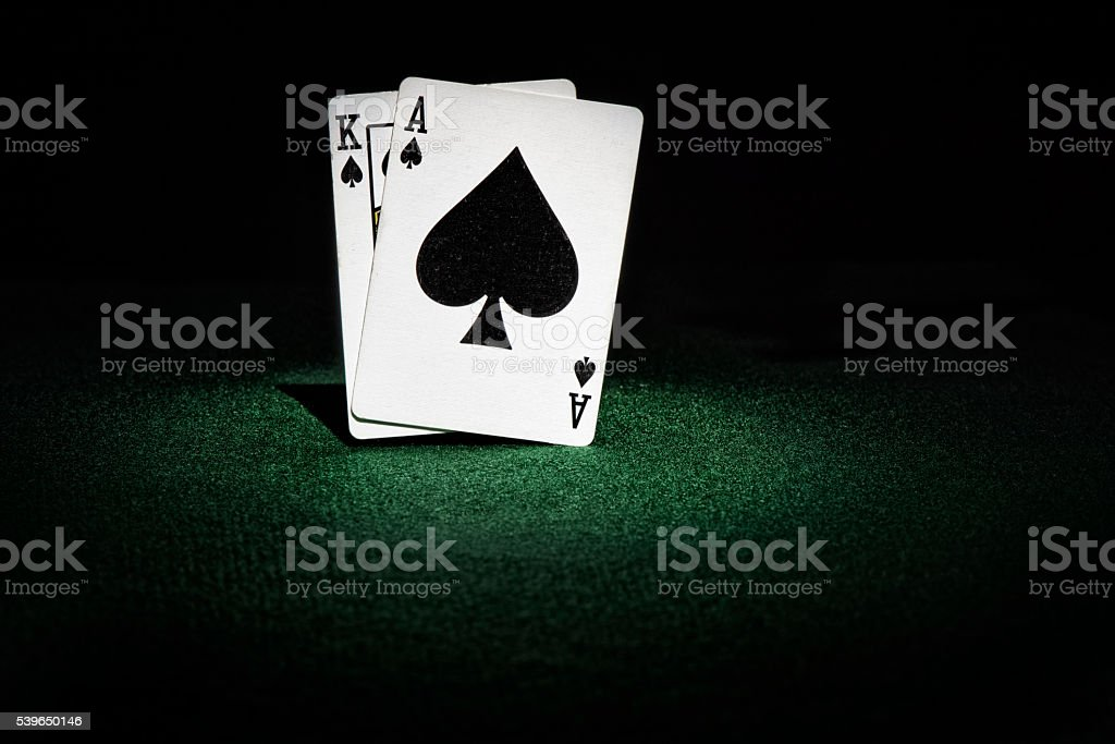 Two Playing Cards stock photo