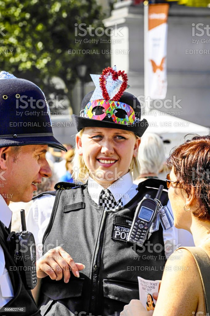 Two Police Officers at the Liberty Festival in London UK stock photo