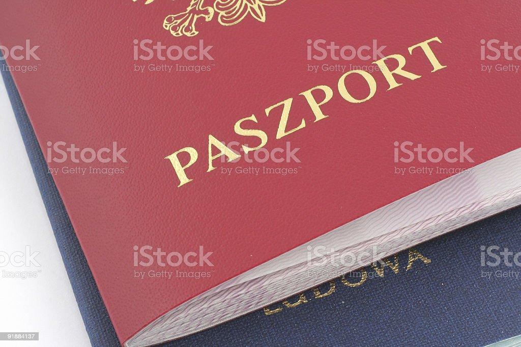 Two Polish Passports royalty-free stock photo