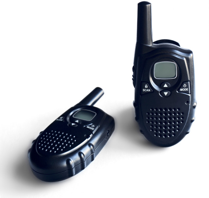 Two Portable Radio Sets On A White Background Stock Photo - Download Image Now