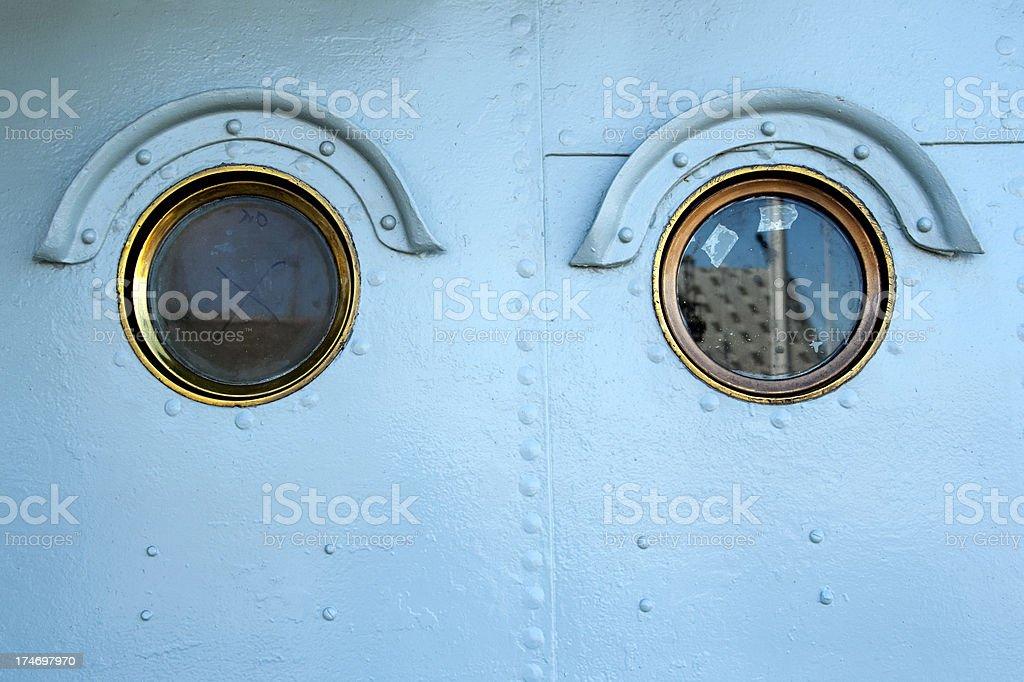 Two portholes royalty-free stock photo
