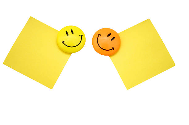 Two positive messages stock photo