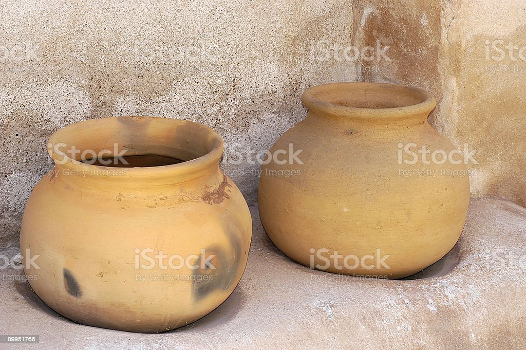 Two Pots royalty-free stock photo