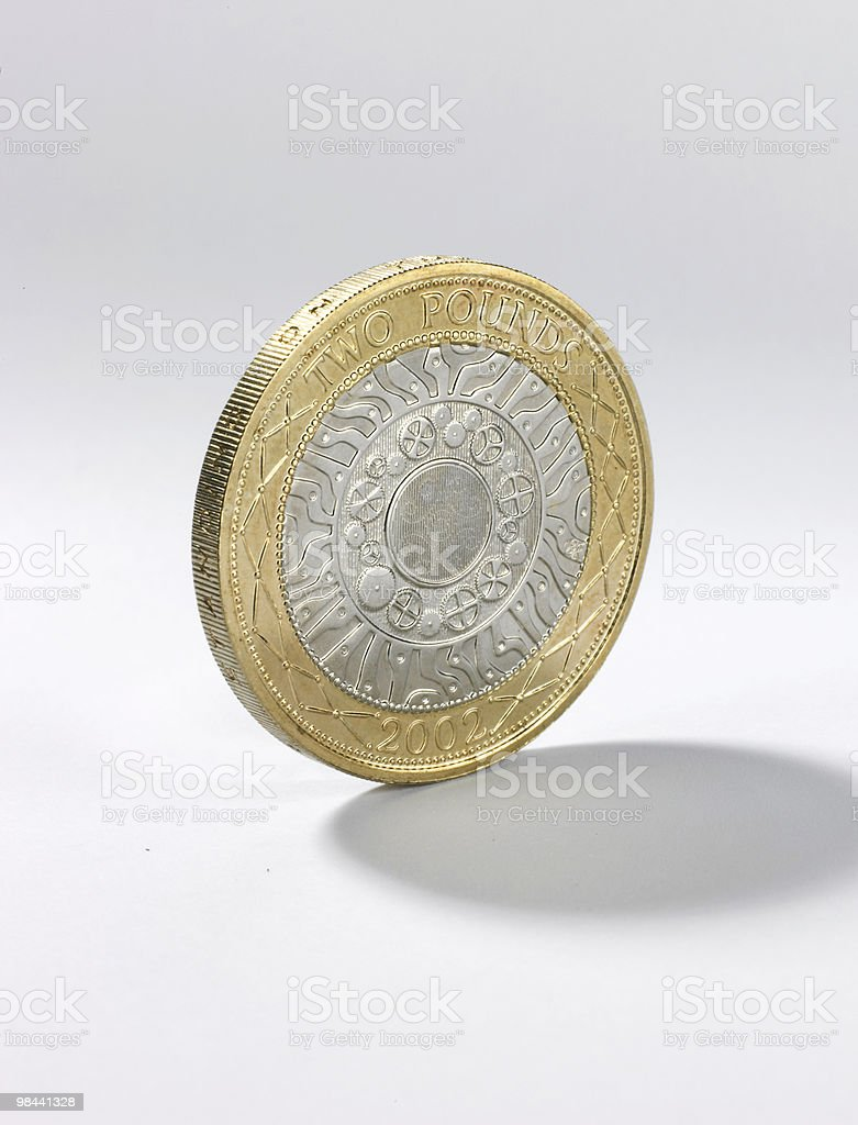 Moneta da due sterline foto stock royalty-free