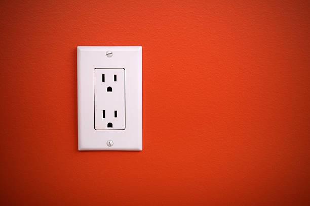 pris'électrique - prise électrique à trois fiches photos et images de collection