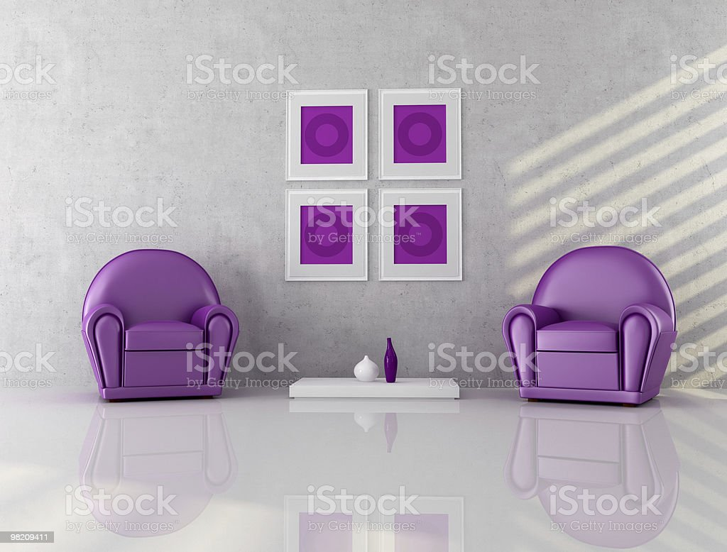 two purple armchair royalty-free stock photo