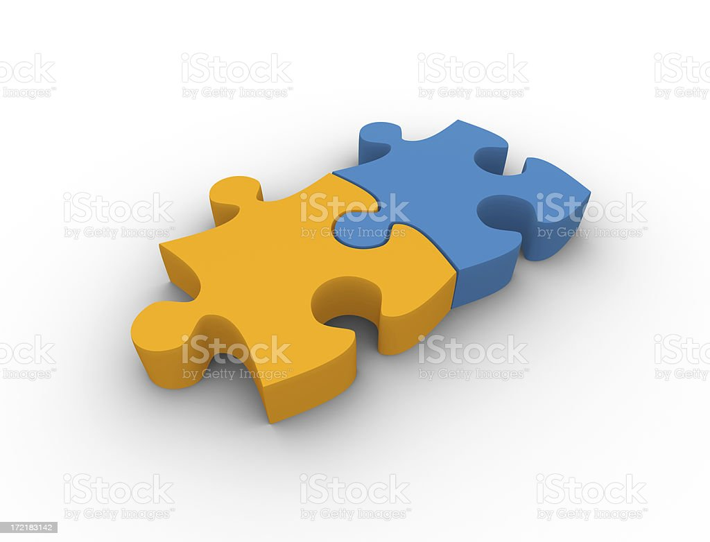 Two puzzle pieces royalty-free stock photo