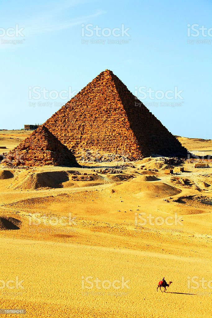 Two Pyramids in Giza, Egypt royalty-free stock photo