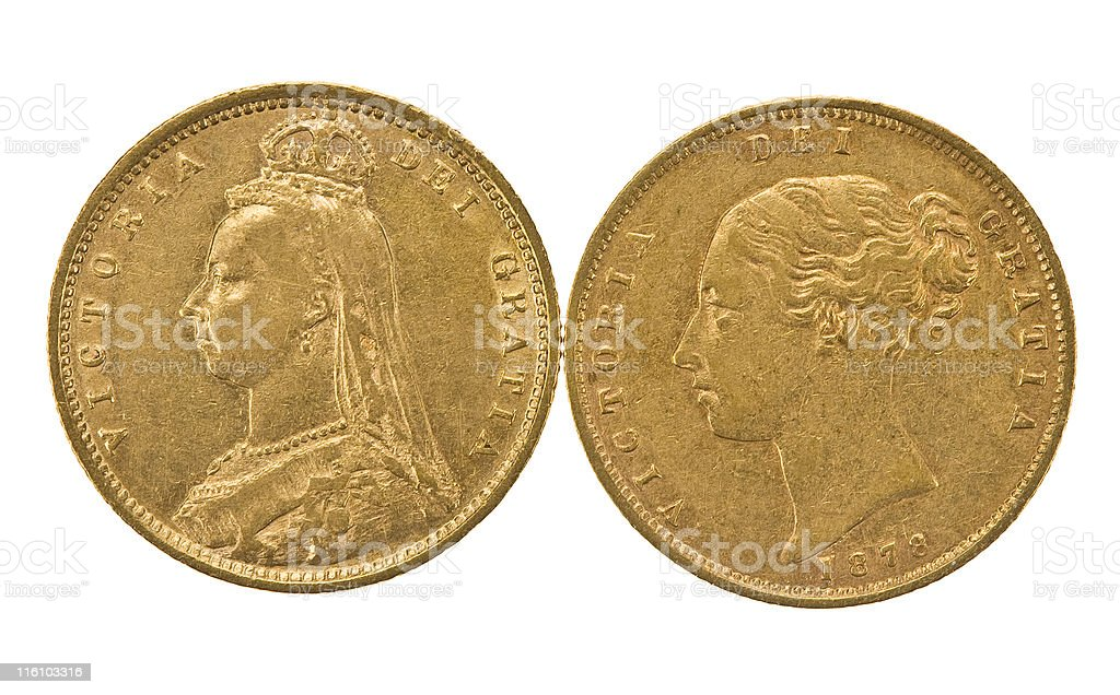 Two Queens In Gold stock photo