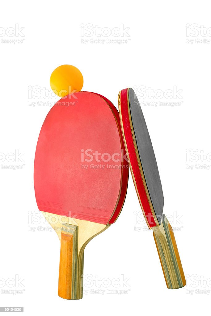 Two rackets royalty-free stock photo